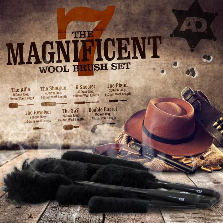 wool brush set poster