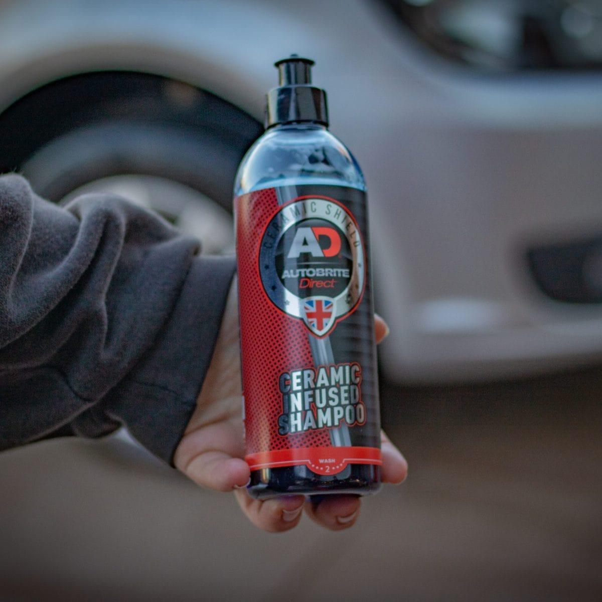 ceramic infused car shampoo bottle
