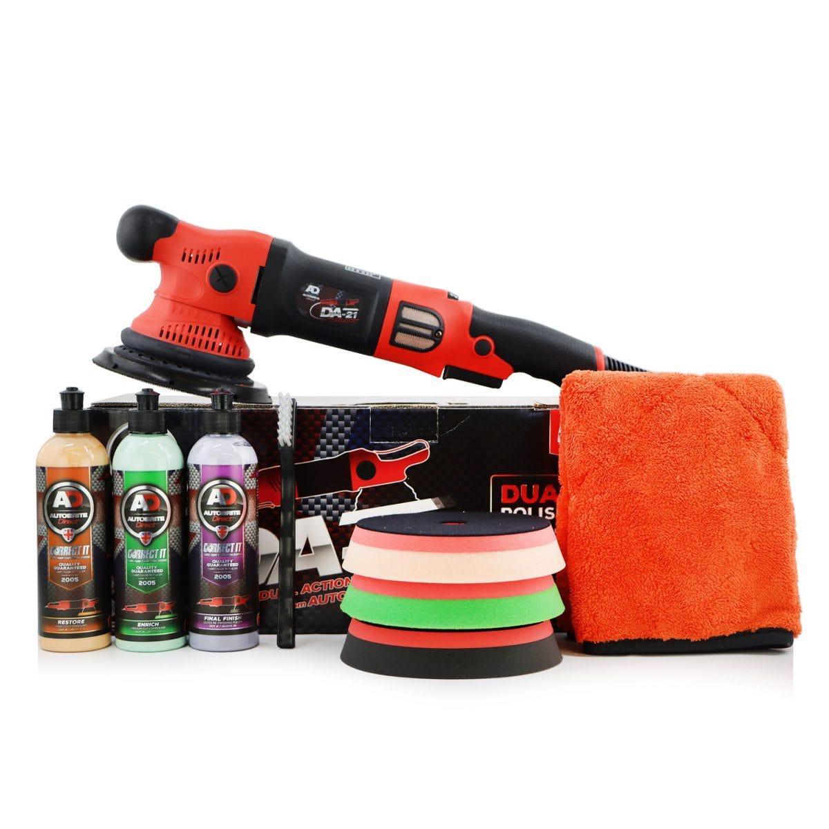car polishing kit with 3 types of car polish
