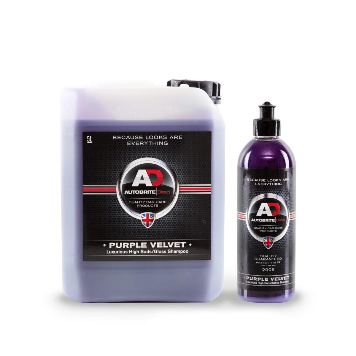 purple velvet car shampoo