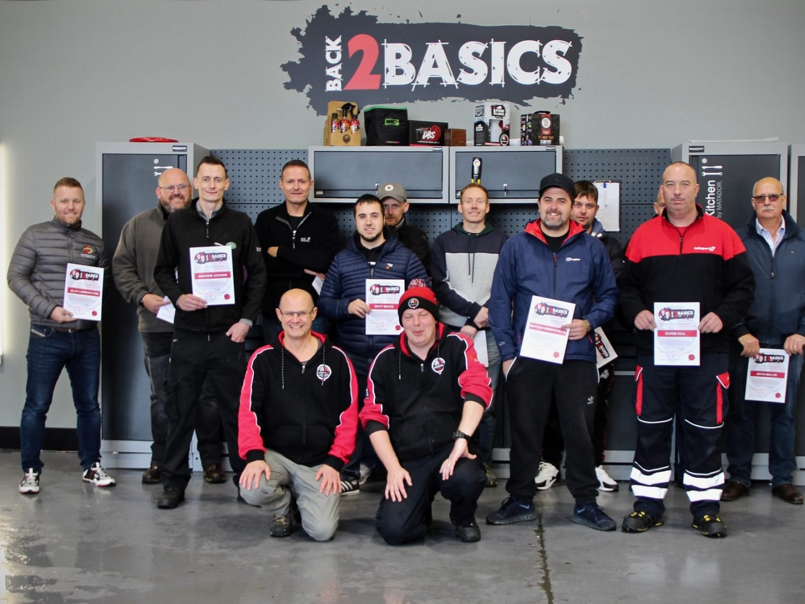 Course candidates with certificates